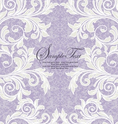 damask wedding invitation vector image