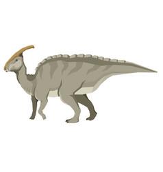 Dinosaurs brontosaurus isolated object vector