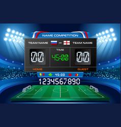 Electronic scoreboard football wallpaper vector
