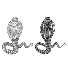 Fashion of cobra snake vector