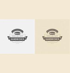 Fast food logo sandwich vector