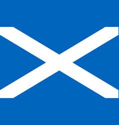 flag scotland saint andrews cross national vector image