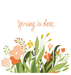 floral with place for text vector image