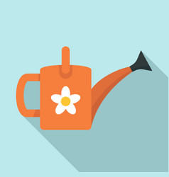 flower watering can icon flat style vector image