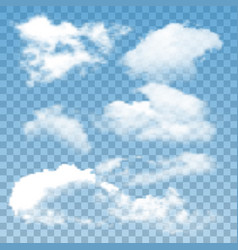 Fluffy clouds atmosphere collection set vector