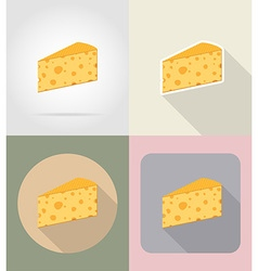 food objects flat icons 04 vector image