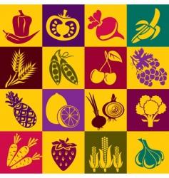 fruitvegetables vector image vector image