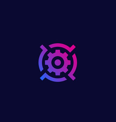Gear and target logo icon vector