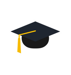 graduation cap logo icon design template vector image