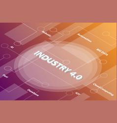 industry revolution 40 words isometric 3d word vector image