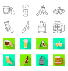 Isolated object bar and oktoberfest icon vector
