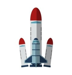 Isolated rocket design vector
