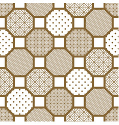 Japanese style tile seamless pattern vector
