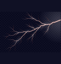 lightning electric thunder vector image