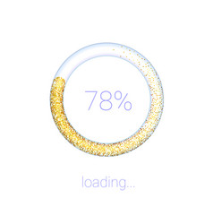 loading bar for mobile apps icons luxury 3d vector image