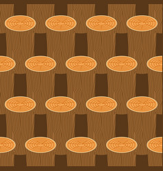 log seamless pattern wooden billet background vector image
