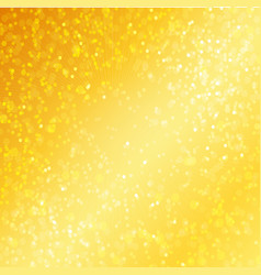Luxury golden background with bokeh defocused vector image