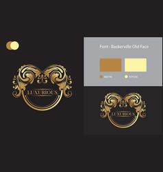 Luxury logo brand design vector