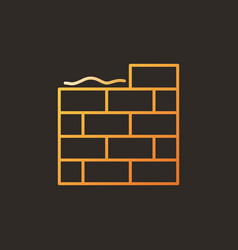 Masonry creative colorful icon in outline vector