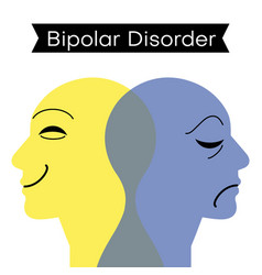 Mood disorder split personality bipolar disorder vector