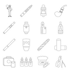 Nicotine and filter logo vector