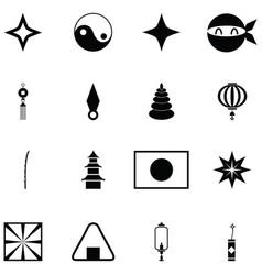 Ninja icon set vector
