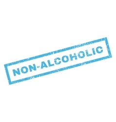 Non-alcoholic rubber stamp vector
