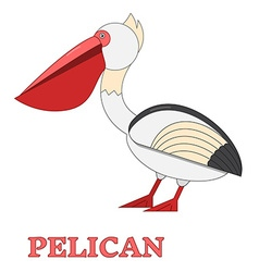 Pelican Flat Linear icon vector image