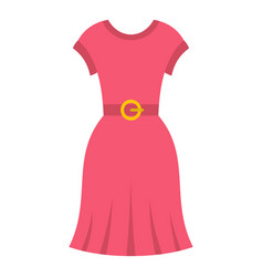 pink dress icon isolated vector image