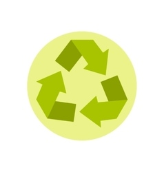 Recycling icon flat style vector image