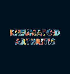 Rheumatoid concept word art vector