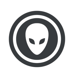 Round black alien sign vector image