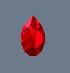 ruby gem shining logo drop shaped vector image