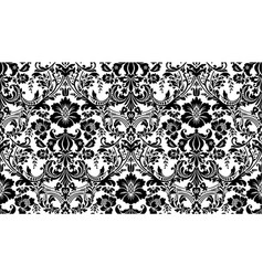 Seamless damask pattern black and white image vector