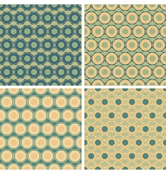 seamless octagon pattern set vector image