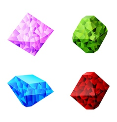 set of different diamonds vector image