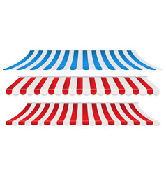 Set strip colorful awnings vector