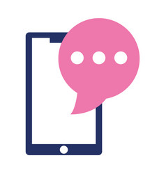 smartphone speech bubble chat sms isolated design vector image