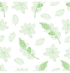 Tea pattern-03 vector