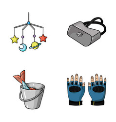 technology fishing and other web icon in cartoon vector image