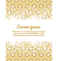 Template card for invitation vector