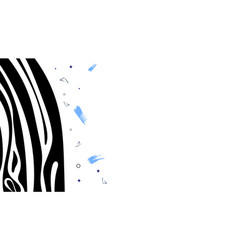 template with zebra stripes pattern vector image