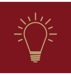 The Light lamp icon Idea symbol Flat vector