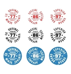 Vintage circle stamp vector