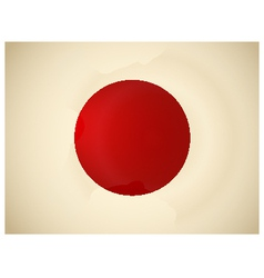 Vintage Japan Flag vector image