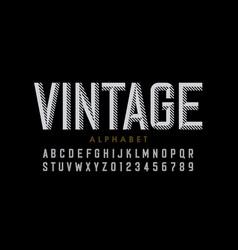 vintage style font retro style alphabet letters vector image
