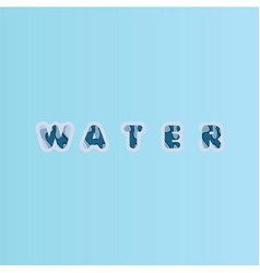 Water font template design vector