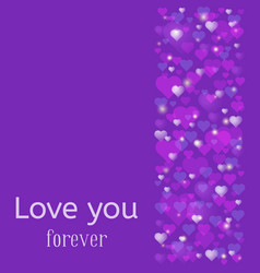 wedding or valentine day greeting card love you vector image