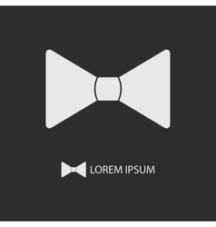 White bowtie as logo vector image