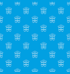 wood beehive pattern seamless blue vector image